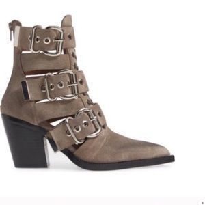 Jeffrey Campbell caceres western buckle boots 9.5
